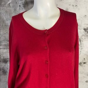 The Gap red basic button down cardi-large